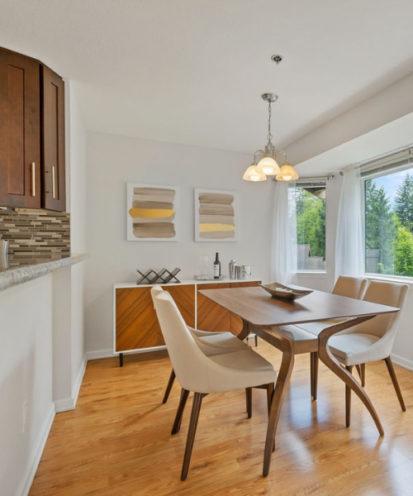 salle à manger cuisine types de bois différents