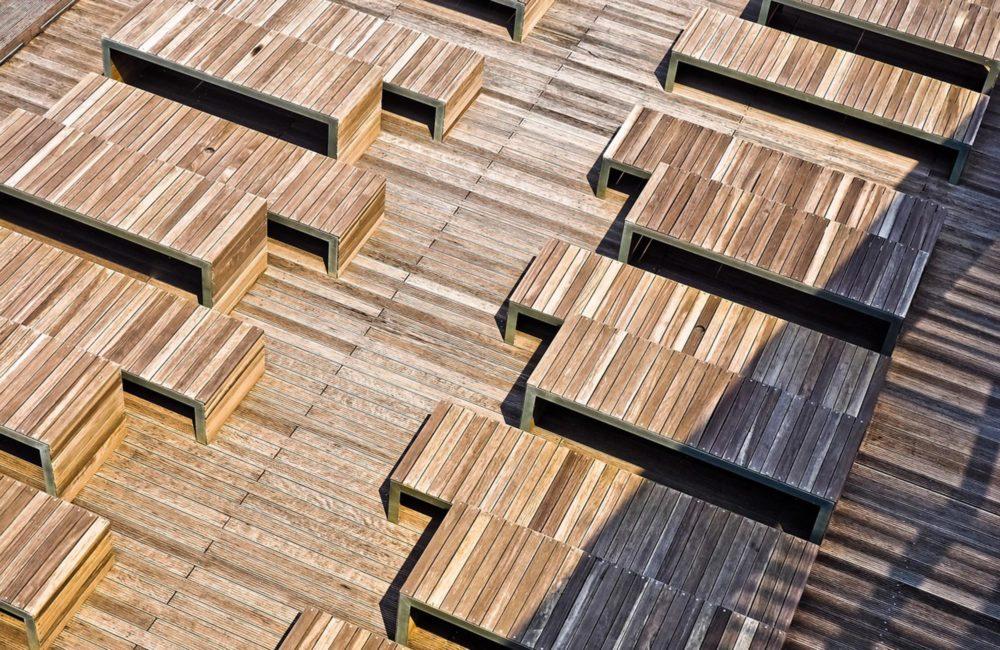 terrasse en bois par Vallon Faure