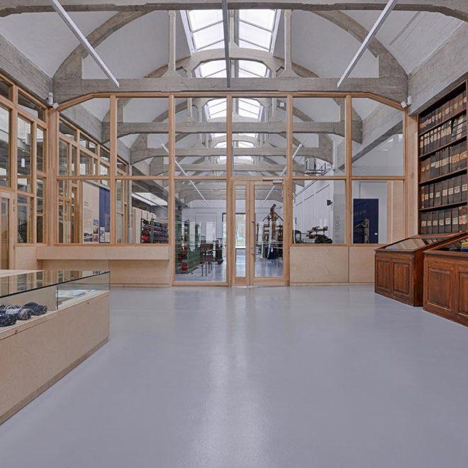 Menuiserie intérieure pour le Musée de l'industrie textile par les équipes de Vallon Faure