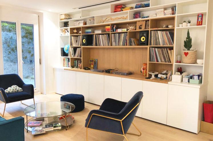 à la une - réalisation d'un meuble bois sur mesure avec intégration de platines