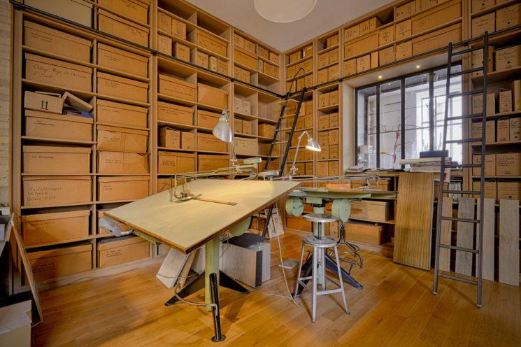 Bibliothèque sur mesure bois - agencement Vallon Faure