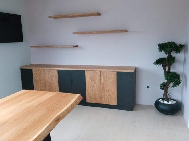 Etagères en bois, mobilier de rangements sur-mesure par Vallon Faure