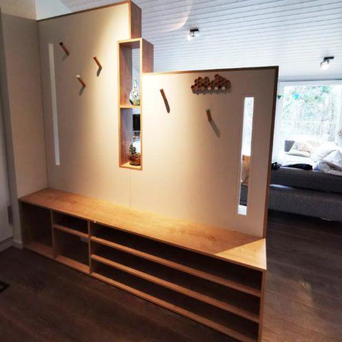 Rétrospective projet 2020, meuble de rangement sas d'entrée par Vallon Faure