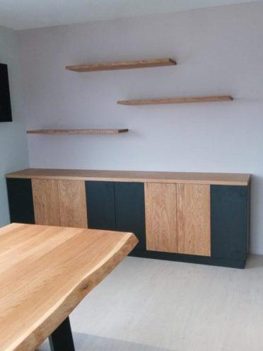 Projet en cours, des étagères en bois sur-mesure par Vallon Faure
