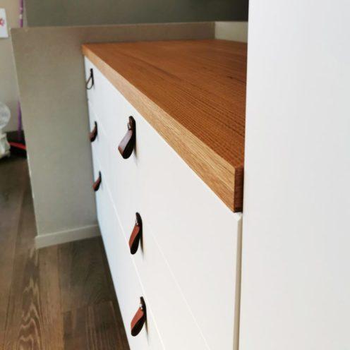 Plan de travail en bois sur-mesure fabriqué par Vallon Faure