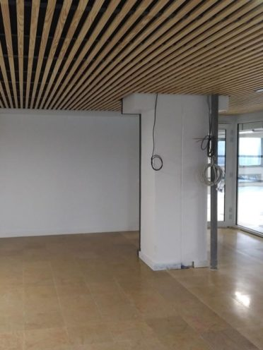 Travaux au cous de la réhabilitation de l'École Centrale à Lyon par Vallon Faure