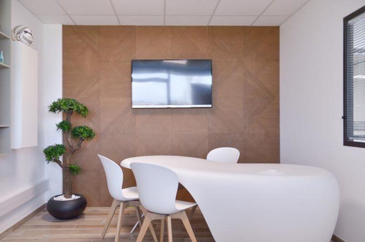 Habillage mural pour les bureaux de Visiance en partenariat avec Global Concept